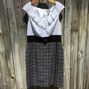 White House Black Market Ruffle Shirt Dress 14